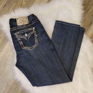 Miss Me Mid Rise Curvy Crop Jeans
